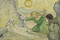 ゴッホの油絵アートプリントポスター The Raising of Lazarus (after Rembrandt) - フィンセント ファン ゴッホ 世界の名画 高級ポスター 60cmx90cm アートプリントキャン バス 写真