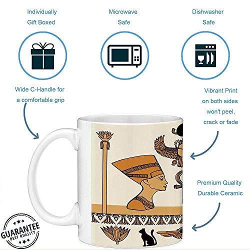 Taza de café divertida con cita Egipcio 11 onzas Taza de café ...