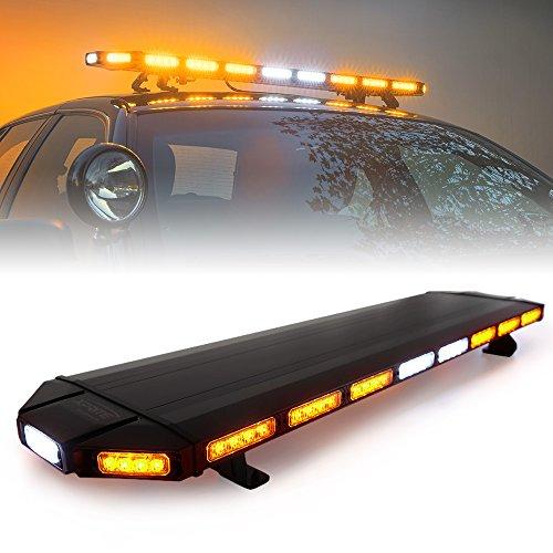 Xprite 48' Amber Emergency Strobe Bar Lights Black Hawk...