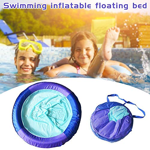 Spring Float Seat Swimming Pool Mesh Float Lounge Chair with Carry Bag Inflatable Lounge Chair Recliner Summer Pool Toy for Pool Beach Lake