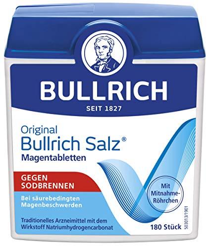 Bullrich Salz - Ayuda rápida para la acidez y las molestias gástricas relacionadas con el ácido, 180 pastillas