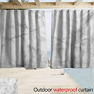 AndyTours Printed Curtain,Marble Fractured Lines Stained Grunge Surface Effects Ceramic Style Background Artful Motif,Privacy Assured Window Treatment,W108x72L Inches Grey Dust