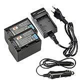 DSTE 2-Pieza Repuesto Batería y DC04E Viaje Cargador kit para Sony NP-FV70 HDR-XR550VESR15SR21SR68SR88SX15SX21SX44SX45SX63SX65SX83SX85FDR AX100Hdr CX105CX110CX115CX130CX150CX155CX160