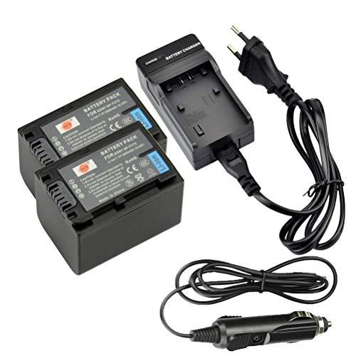 DSTE 2-Pieza Repuesto Batería y DC04E Viaje Cargador kit para Sony NP-FV70...