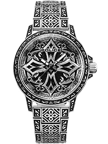 Police Bronxdale Set Reloj de Cuarzo Negro/Plata