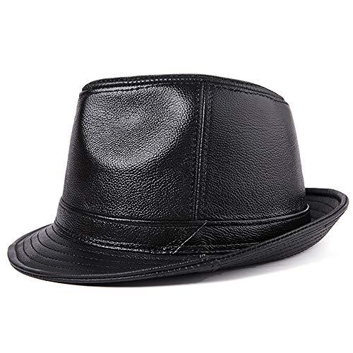 AMJUNM HommeJazz Hat Classique Loisir Chapeau Panama Vacance Plage Chapeau Plat en Four Seasons Jazz Chapeau Noir Jazz