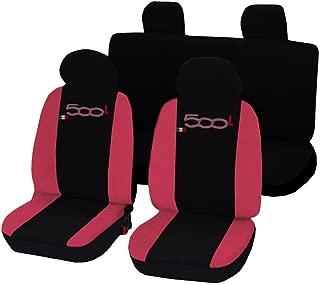 Lupex Shop 500L No RO LD Car Seat Cover, Black/Pink