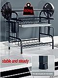EOVL Abtropfgestell 2and 3 Etagen Abtropfgitter Geschirrständer Geschirrabtropfer mit Besteckhalter und Auffangschale/D - 2