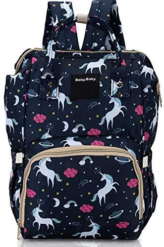 The Baby Co. Diaper Bag Backpack Baby Bag Multifunction Maternity Travel Changing Pack – Water Resistant Nappy Tote (TBC-HM-7B)