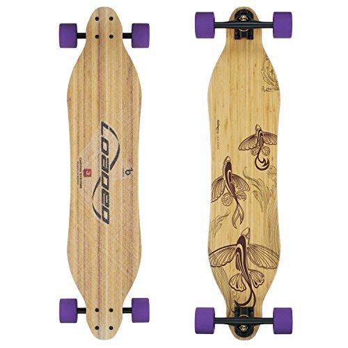 Loaded Boards Vanguard Bamboo Longboard Skateboard completo (83a Durian, Flex 5)