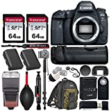 Canon EOS 6D Mark II Wi-Fi DSLR Camera Body - with Pro Battery Grip, TTL Flash, Canon Backpack,128GB Memory, Replacement Battery for LP-E6N, 72' Monopod, RC-6 Wireless Remote, and More.(19 Items)