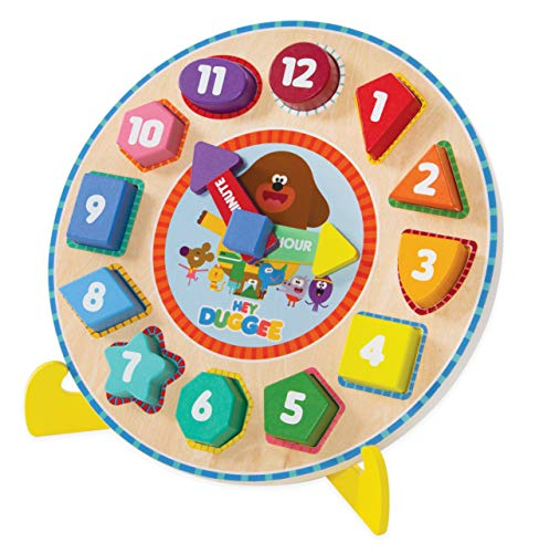 Hey Duggee 9039 Puzzle Clock with Stand, Multi Reloj de Rompecabezas con Soporte, Multicolor (8th Wonder