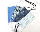 Tapaboca handmade, tapaboca con bolsillo para filtro, tapabocas hechas a mano, tapabocas de tela lavables (4 unidades)
