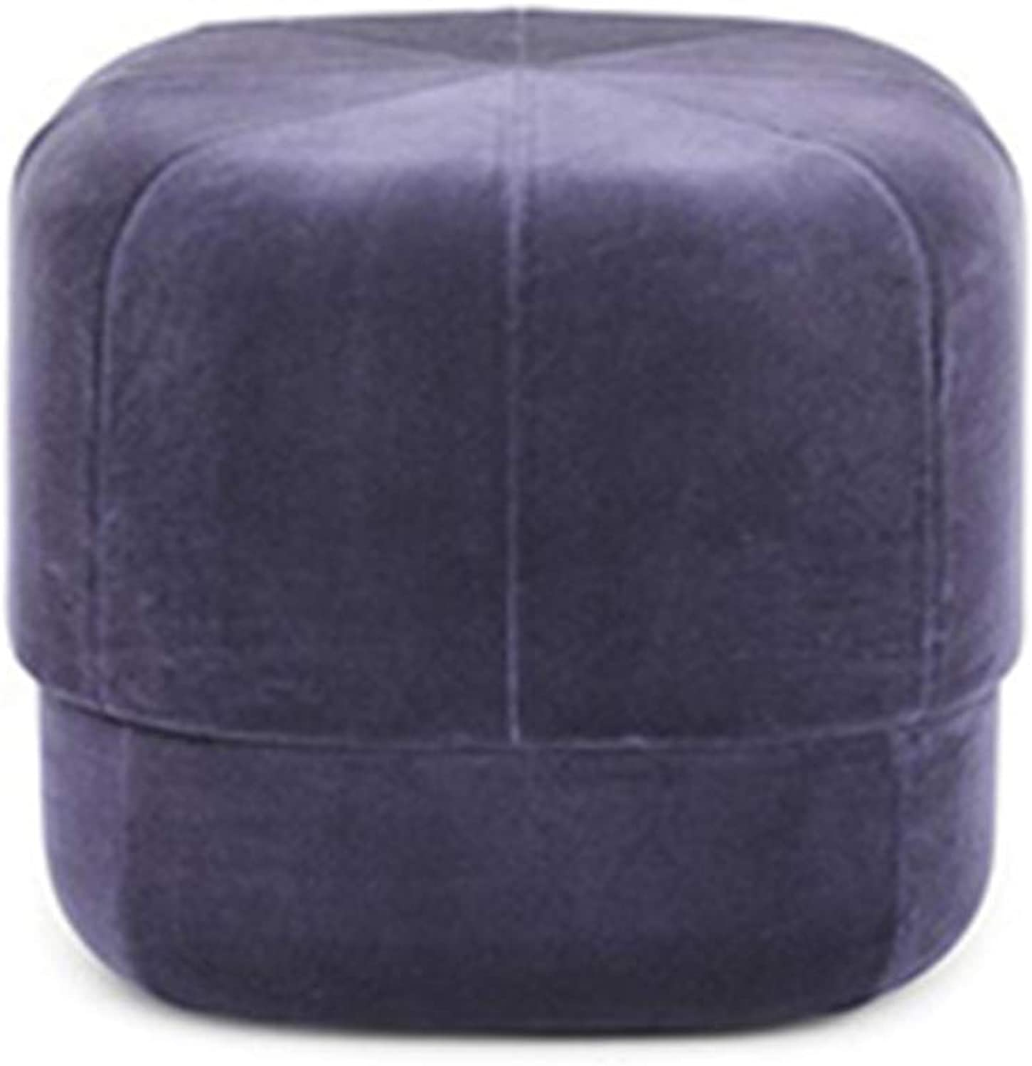 Sofa Stool Change shoes Stool Solid Wood Cotton Creative Multifunctional Makeup Stool 8 colors (color   Purple, Size   40  40 cm)