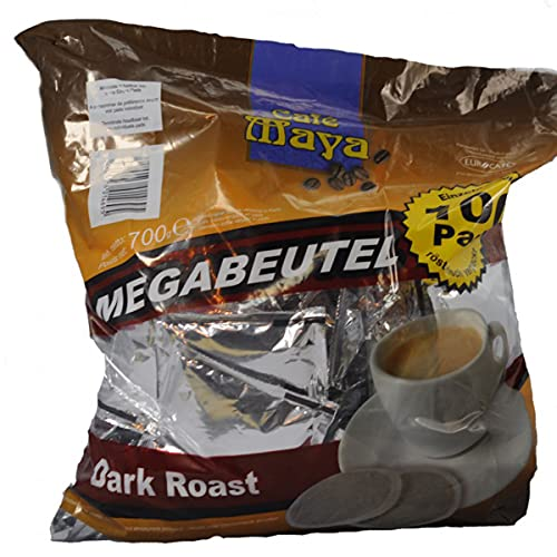 100 Kaffeepads im Megapack Eurocafe Grandioso Café Dark Roast einzeln aromaversiegelt