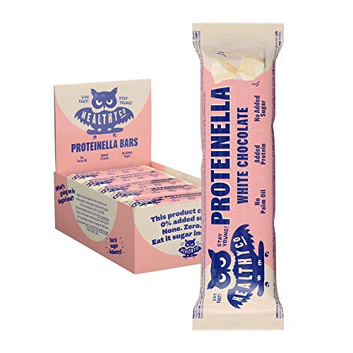 HealthyCo – Proteinella White Chocolate Bar 35G x 20 PCS – Healthier Alternative to Snacks, Rich in proteins and with no Added Sugar or Palm Oil