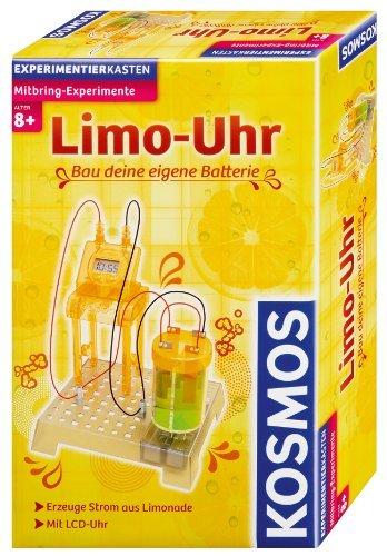 Kosmos Mitbring-Experimente. Limo-Uhr: Bau deine eigene Batterie. Erzeuge Strom aus Limonade. Mit LCD-Uhr by KOSMOS