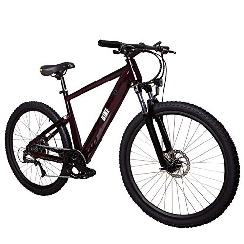 Review HWOEK Adult Commute Electric Bike, Hide Removable Battery 27.5 Inch Mountain E-Bike with Full...