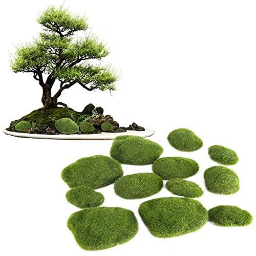 Fake Moss - Delama Green Simulation Grass, Bryophyte, para Bonsai, Jardín, Bricolaje Decoración del Paisaje
