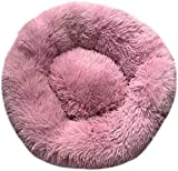 NOOYC Sleeping Nest Shag Peluche, Donut Cuddler Fondo Impermeabile Cats Bed Calming Bed pe...