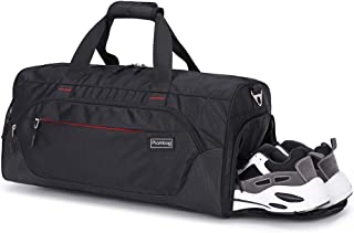 Plambag 33L Turnbeutel, Reisetasche Duffel Bag mit Trocken & Nass getrenntem Fach, Schuhfach, Sporttasche Fitnesstasche Gepäck Tote Weekender Bag für Damen und Herren