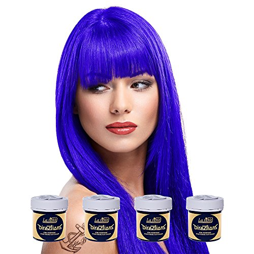 4 x La Riche Directions Semi-Perm Hair Colour Neon Blue (ALL COLOURS Avail) 4x 88ml by La Riche Directions