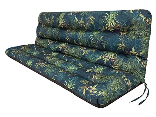 Cojín para columpio de jardín • Cojín para banco • Cojín para banco • Cojín de asiento y respaldo • Ancho del asiento 120 cm • Pradera verde