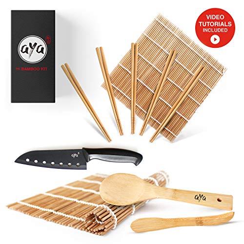 AYA Kit à Sushi - Nattes de Première Qualité -...