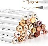 24 rotuladores a base de alcohol de tonos de piel Ohuhu. Rotuladores para dibujar y colorear con...