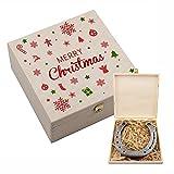 4you Design Hufeisen in Geschenkbox Merry Christmas! - Geschenkidee zu Weihnachten Glücksbringer - für ihn/sie