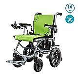 ZDW Silla de ruedas Silla de ruedas liviana de doble función, silla de ruedas eléctrica de servicio pesado, silla de ruedas eléctrica compacta abierta/plegable rápida con silla de ruedas eléctrica