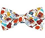OCIA®Hombre/niños Hecho a Mano Clásicos Diseño original del patrón animal lindo Pajarita (Music, M - (6 años para adultos jóvenes))