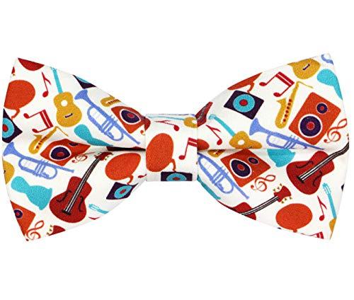 OCIAHombre niños Hecho a Mano Clásicos Diseño original del patrón animal lindo Pajarita (Music, M - (6 años para adultos jóvenes))