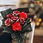 erosmono mother's day rose bouquet -a romantic gift bouquet made of carnations and gold leaf roses, suitable for permanent gifts for birthdays, valentine's day and wedding box pack (red)