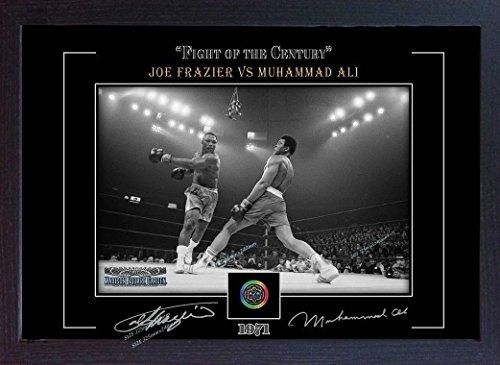 SGH SERVICES Poster Boxer Muhammad Ali Joe Frazier, gerahmt, Fotoposter mit Rahmen, MDF-Rahmen
