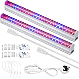 LED Grow Light Bars for Indoor Plants Plant Grow Lamp with Red/Blue Spectrum Growth Light Strip with Power Switch Wire + Cables for Greenhouse Plant Grow Shelf (Pack of 2)