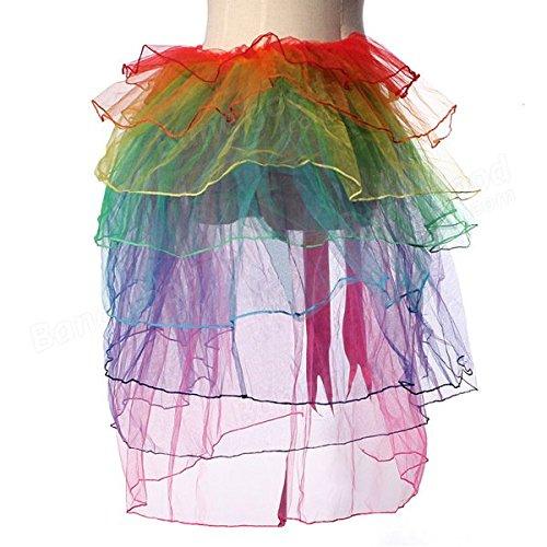Saver Girls Rainbow Tutu Dress Sexy Puff Skirt Tail Party Cosplay Club Dress
