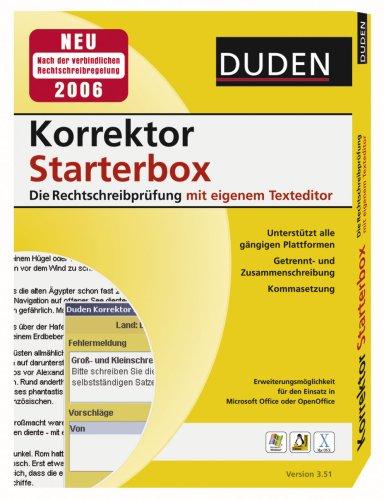 Duden Korrektor Starterbox Die Rechtschreibprüfung mit eigenem Texteditor Version 3.51