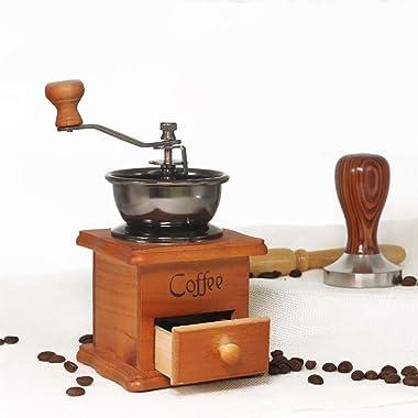 Behandy Manual Coffee Grinder Vintage Coffee Grinder Portable Hand Crank Coffeemaker Hand Grinder Grinder Machine for Home, O