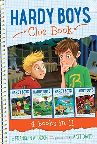 Hardy Boys Clue Book 4 books in 1!: The Video Game Bandit; The Missing Playbook; Water-Ski Wipeout; Talent Show Tricks