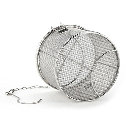 Tea Ball Strainer, Aramox Stainless Steel Soup Seasonings Seperation Basket Spice Filter(1410)