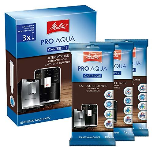 Melitta Filterpatrone für Kaffeevollautomaten | 3x Pro Aqua | Vorbeugung von Verkalkung | Einfache Anwendung | 3 Patronen