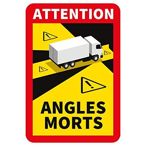 lepni.me Attention Angles Morts Lotto di Adesivi 1/3/5/6/12/30/50/100 Pezzi per Camion Pesanti o Autobus (100PCS Camion)