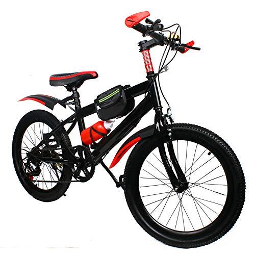Kaibrite 20 pollici doppio freno mountain bike in acciaio al carbonio, telaio rigido, verde, rosso (rosso)