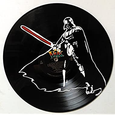 Hand painted Star Wars Darth Vader vinyl record wall art