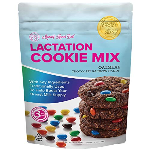 Lactation Cookies Mix - Oatmeal Chocolate Rainbow Candy Breastfeeding Cookie...