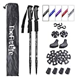 TheFitLife Nordic Walking Trekking Poles - 2 Pack with Antishock and Quick Lock System, Telescopic,...