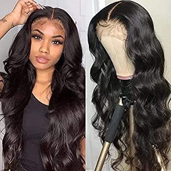 UNice Hair Body Wave Lace Front Human Hair Wigs Unprocessed Brazilian Virgin Human Hair 13X4 Lace Frontal Wig Pre Plucked with Baby Hair 150% Density  18 Inch