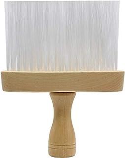 Beaupretty Neck Duster Brush Shaving Brush Wooden Handle Barber Hair Brush Hairdressing Brush Soft Hair Styling Tool Woode...