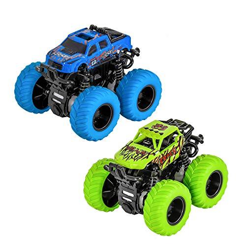 TWFRIC Niños Inercia Coche, Vehículos Juguetes Camión 2 PCS 360 Grado Rotación Coches para Niños Niñas…